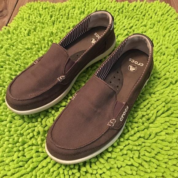 Salecrocs Walu Canvas Loafer Size